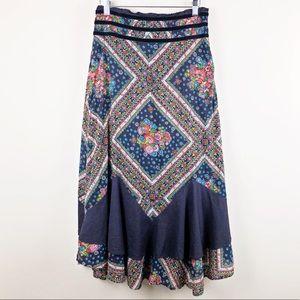 FREE PEOPLE✨VTG Floral Maxi Skirt sz 6
